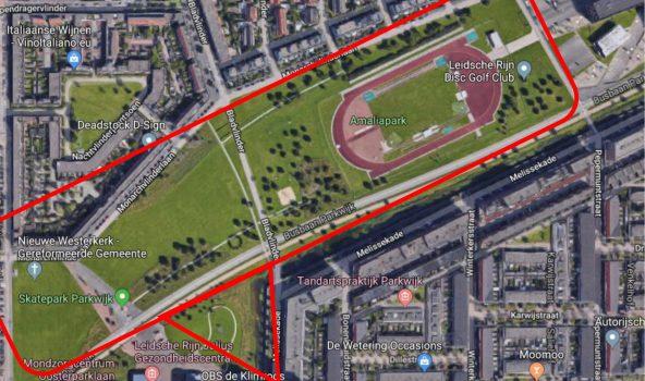Amaliapark Parkwijk kaart