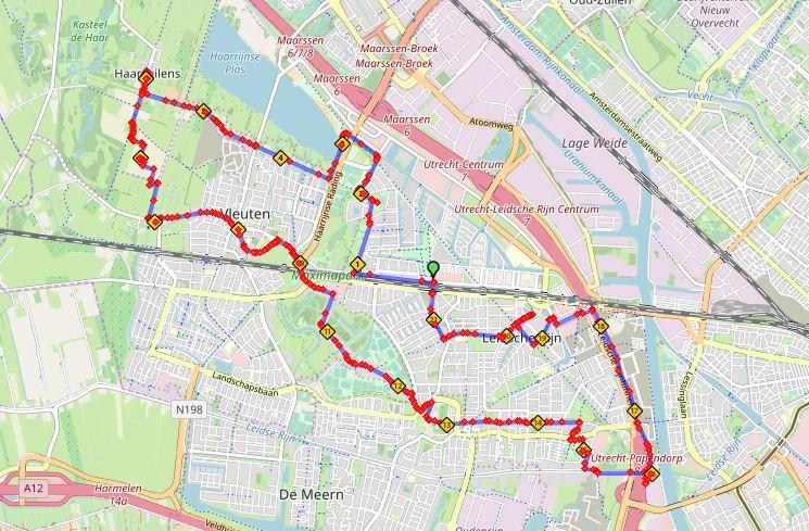Fietsroute 3000jr geschiedenis Leidsche Rijn