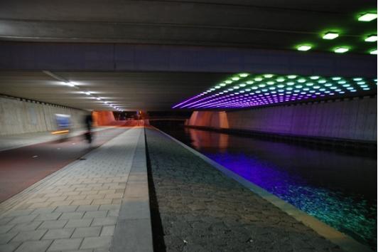 Verlichting onder A2 Leidsche Rijn