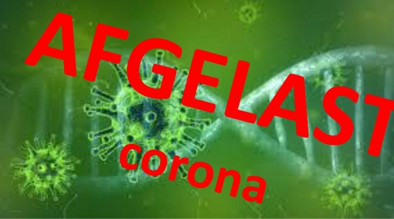afgelast corona