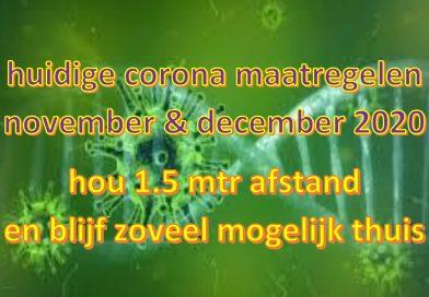 Coronaregels vanaf 19 november